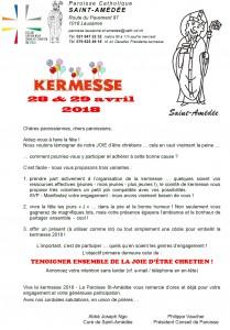 Annonce Kermesse 2018