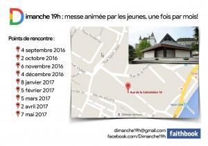 Dates et lieux - Messes des Jeunes