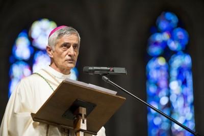 Le nouvel eveque de Sion, Mgr Jean-Marie Lovey.