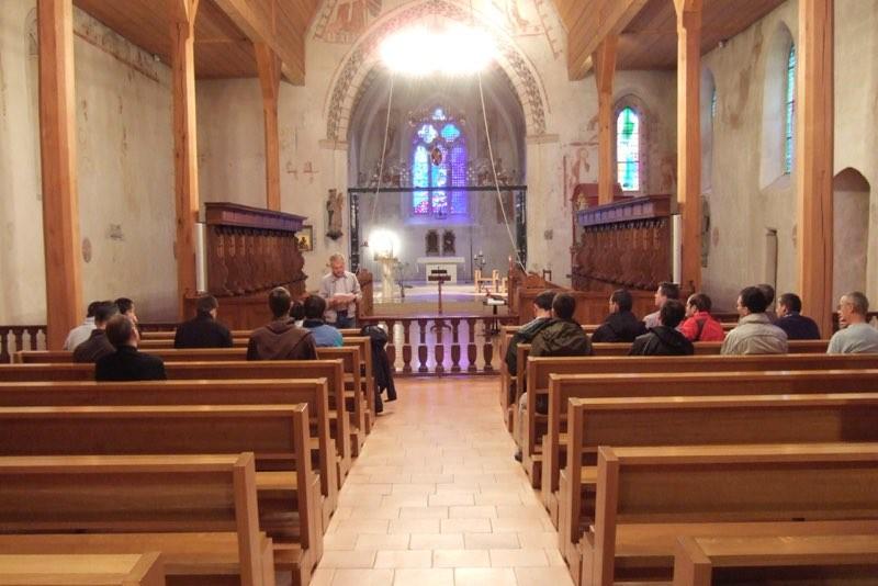 Pèlerinage des pères 2011, 1 : Temps de réflexion à l'abbaye de la Fille-Dieu, Romont