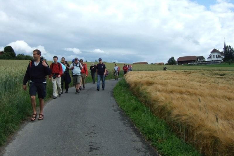 Pèlerinage des pères 2011, 3 : Les paysages de la Glâne