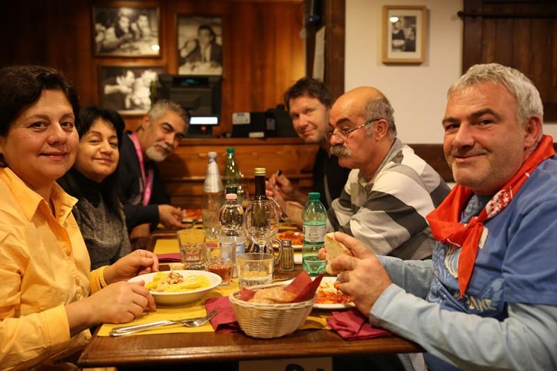 A table, dans un restaurant près de la fontaine de Trevi. (Photo Jean-Brice Willemin)