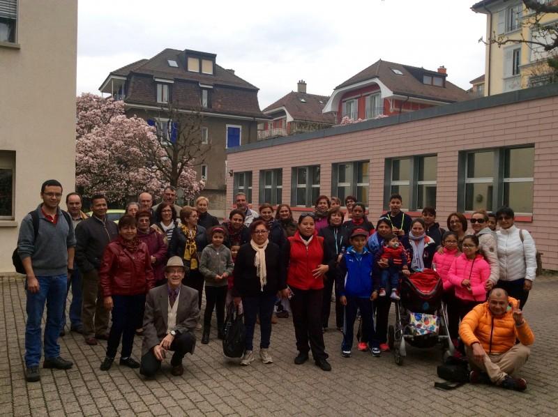 Caminata peregrinación de Lausana a Morges en 2016