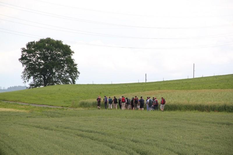 Pèlerinage des pères 2013, 3 : un paysage qui nous invite à se laisser quelque peu déplacer.