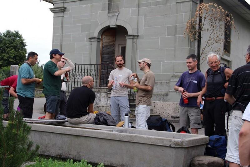 Pèlerinage des Pères 2014, 3 : Une fontaine ! Enfin !