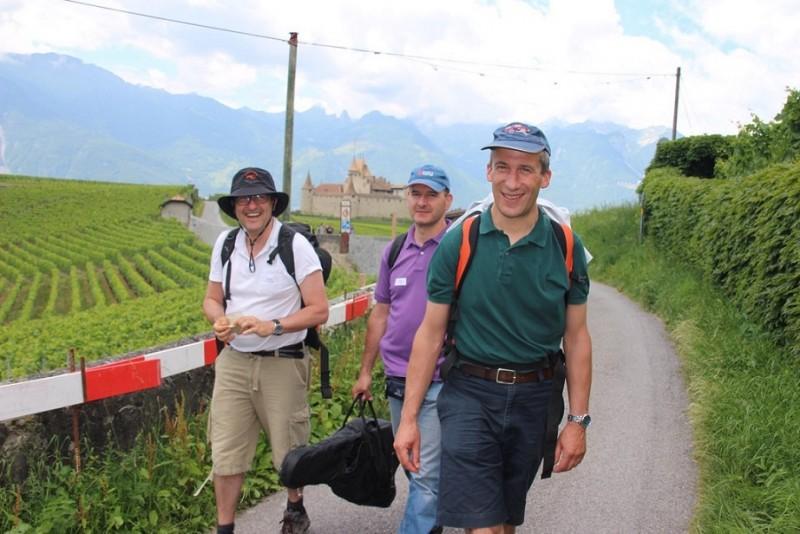 Pèlerinage des pères 2015, 4 : Nous marchons sur la Via Francigena qui va de Canterbury à Rome
