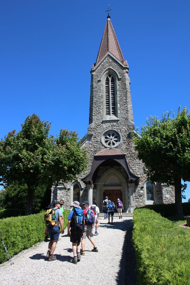 Pèlerinage des Pères 2017 - 5 : Arrivée à Poliez-Pittet