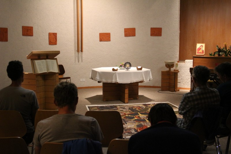 Pèlerinage des Pères 2017 - 8 : Veillée avec St-Nicolas de Flüe dans le centre œcuménique de Froideville