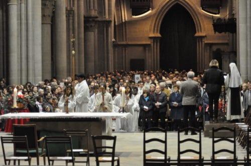 Messe à la cathédrale du 8.12.2018.
