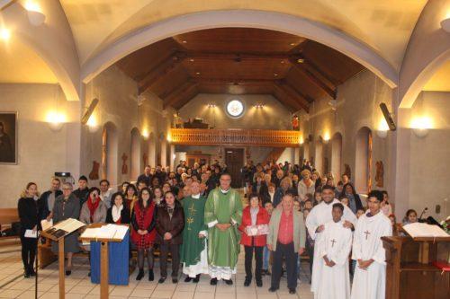 Messe d'Adieu de nos concierges qui ont travaillé plus de 30 ans.