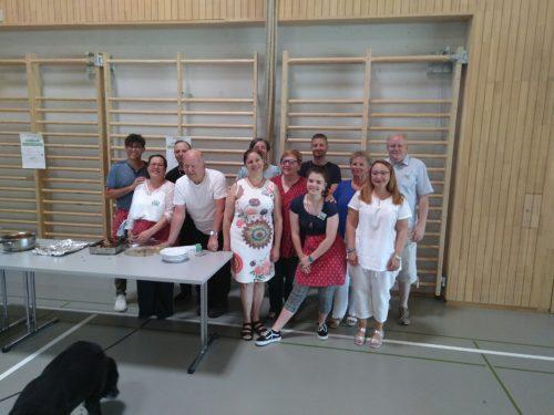 L'équipe de cuisine pour la fête de la paroisse de Cossonay du 23 juin 2019