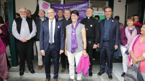 Myriam Stocker pose avec quelques uns des membres de la COR à l'issue de la rencontre. | © B. Hallet