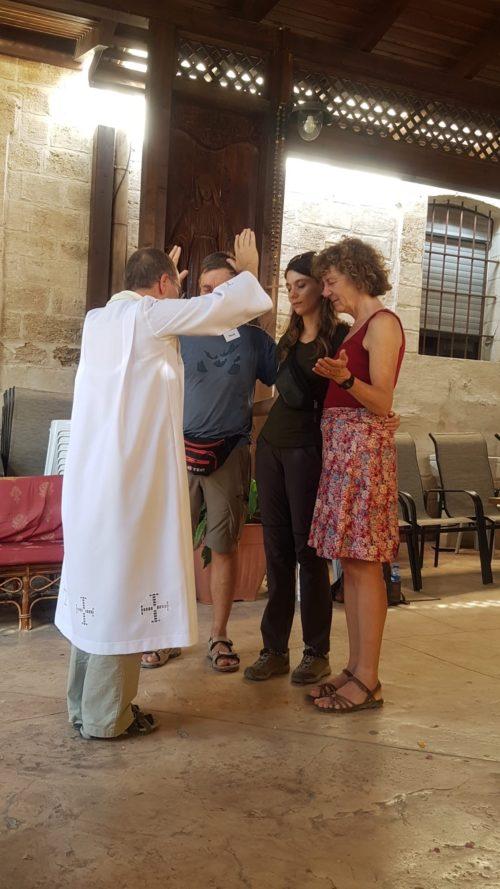 Bénédiction des couples et des participants à Cana