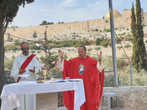 Eucharistie au Mont des Oliviers