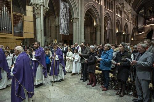 Messe annuelle pour les catholiques a la Cathedrale de Lausanne. samedi 30 novembre 2019.  ARC Jean-Bernard Sieber