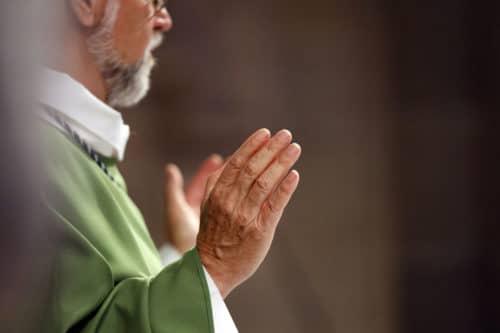 Basilica of Our Lady of Geneva.  Sunday mass.  Eucharist celebration.
